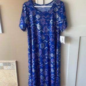 LuLaRoe XL Elegant Carly Blue Arrows